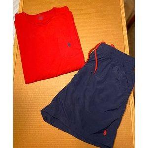 Bundle Deal Ralph Lauren T-shirt & trunks